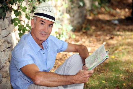 A man in a garden photo