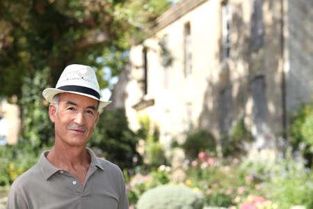 Man visiting countryside photo