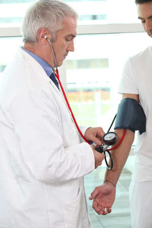 Doctor checking a patient photo