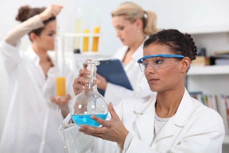 Women working in a laboratory Stock Photo - 11947754