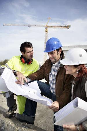 Team op bouwplaats