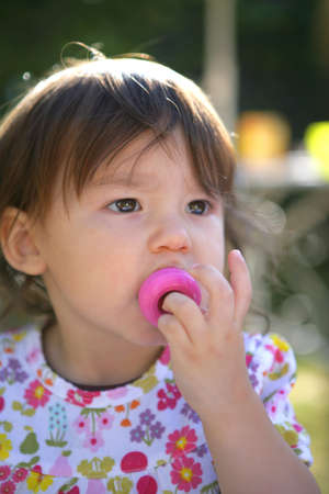 teat: Child with a pacifier