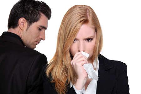 provoked: couple having a quarrel