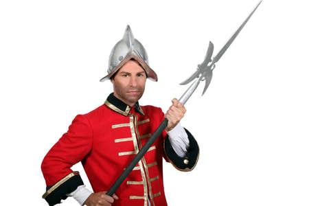colonial: Man in fancy dress costume