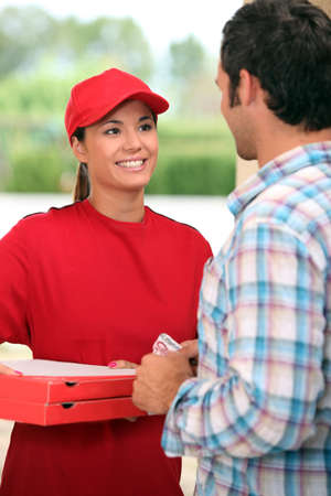 portrait of a delivery girl photo