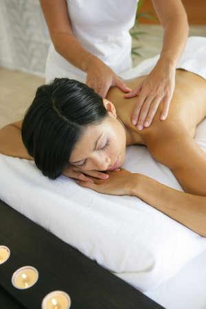 Woman having a massage Stock Photo - 11971585