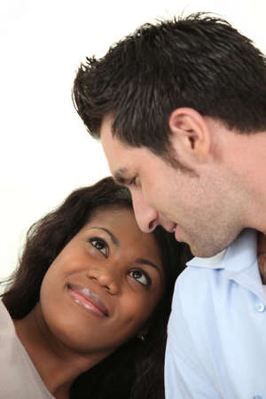 dating and romance: interracial couple
