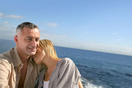 Couple on a boat photo