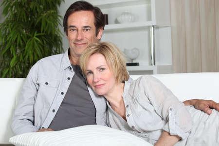 couple on a sofa Stock Photo - 11973420