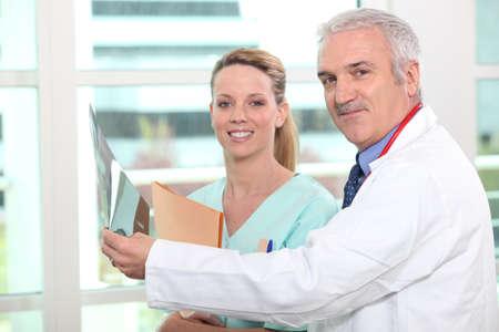 a nurse and a doctor photo