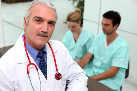 Three medical professionals photo