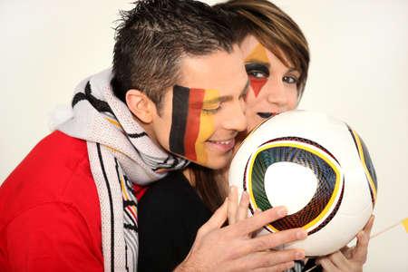 jubilate: couple of German football fans