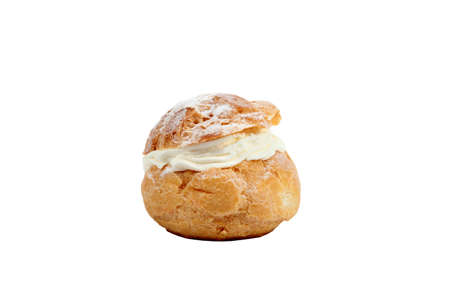mouthwatering: Cream choux Stock Photo