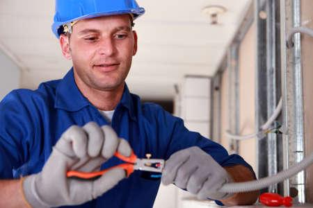 artisans: portrait of a technician Stock Photo