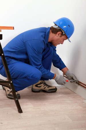 koperen leiding: Loodgieter passende koperen buis