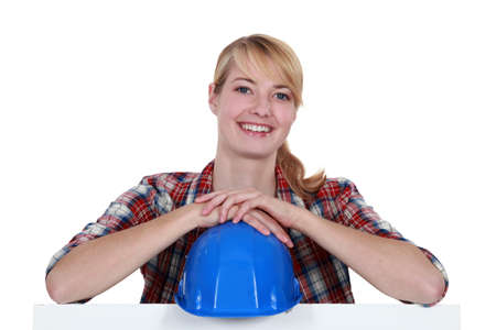 craftswoman: craftswoman smiling Stock Photo