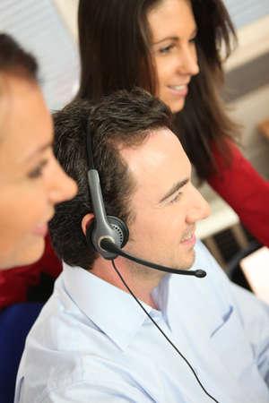 Phone operator in office Stock Photo - 12007975
