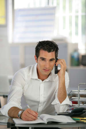 Recruiter having phone call photo