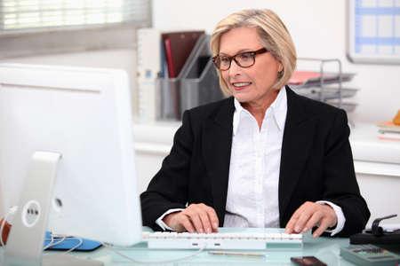 experienced: Senior secretary at work