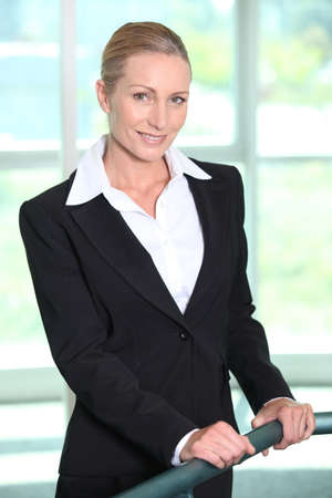 Mature businesswoman smiling photo