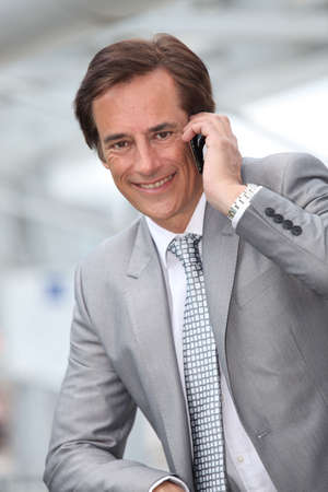 Businessman on mobile phone Stock Photo - 12007976