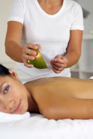 Woman having a massage Stock Photo - 12030668