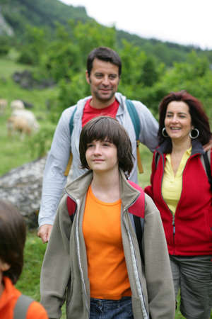 Family on a hiking trip Stock Photo - 12007929