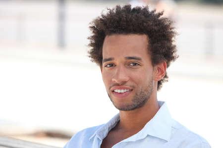 afroamerican: young Afro-American man