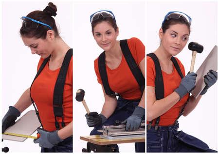 craftswoman: craftswoman working Stock Photo