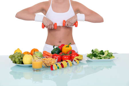 Woman living a healthy lifestyle photo