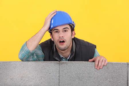 Confused builder photo