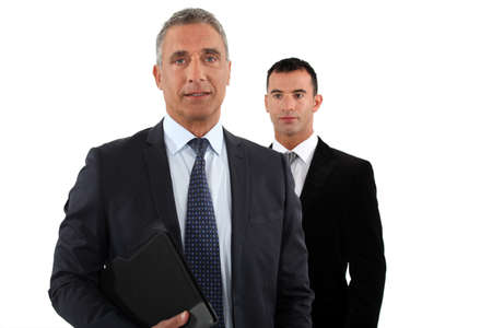 collaborators: Businessman with his assistant Stock Photo