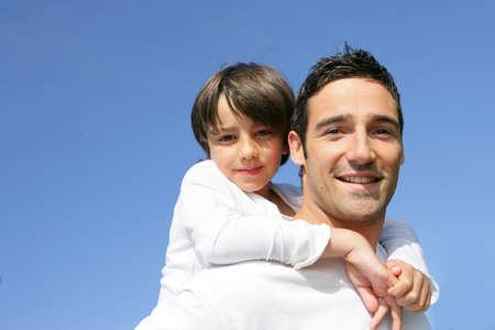 niño a su padre Foto de archivo - 12006033