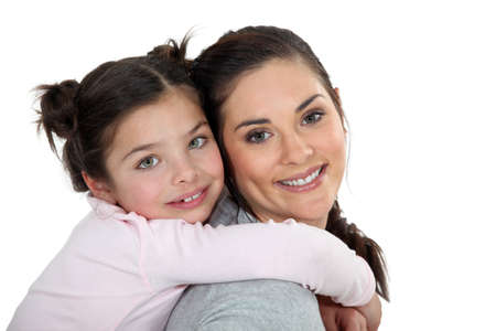 Mother daughter portrait photo