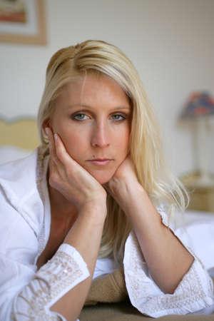Portrait of a melancholy woman