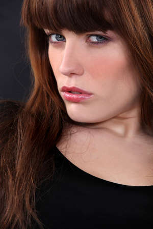 Closeup of a sultry brunette Stock Photo - 12006282
