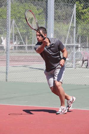 perspiring: a game tennis