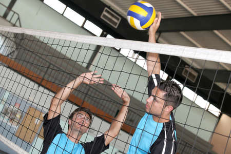 sports hall: Volleyball game