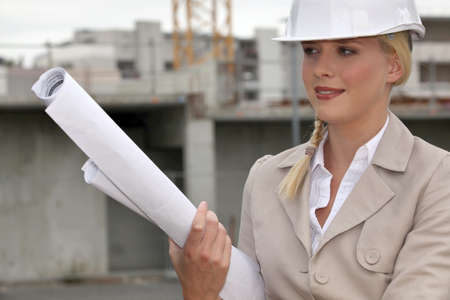 male dominated: Engineer on a construction site