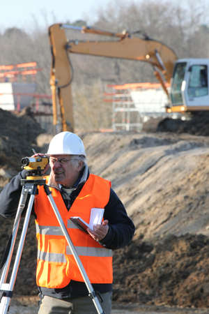 surveyor on a building site photo