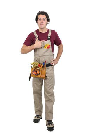 btp: Workman pointing at empty copyspace