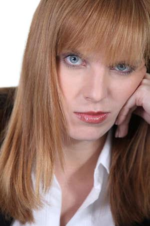 blase: Portrait of a bored woman