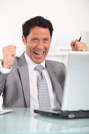 45 49 years: happy businessman Stock Photo