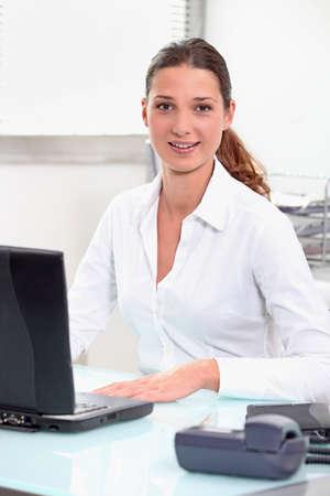 accountancy: Young trainee in accountancy