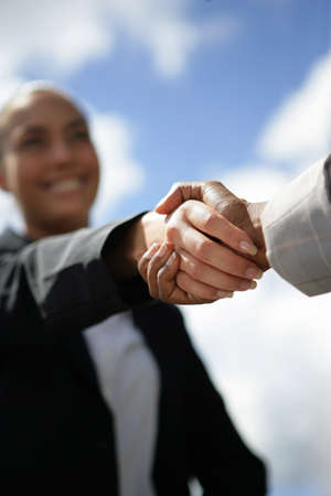 A business handshake photo