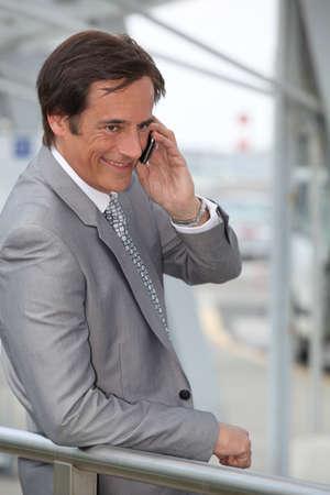 Businessman on mobile phone Stock Photo - 12019268
