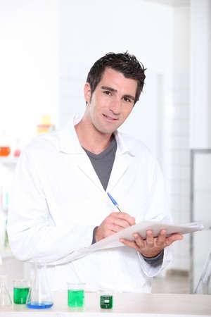lab coat: Scientist Stock Photo