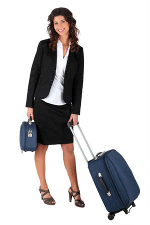 Woman with luggage Stock Photo - 12019185