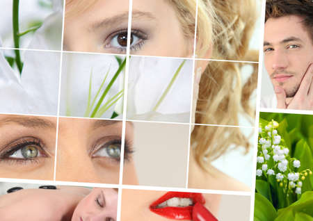 Beauty and wellbeing themed collage Stock Photo - 12057711