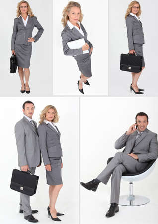 chief executive officers: A collage of business professionals
